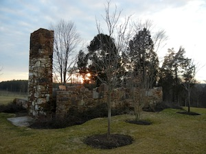The stone structure of a Civil War-era house still stands. Photos by Debbie Strickland.
