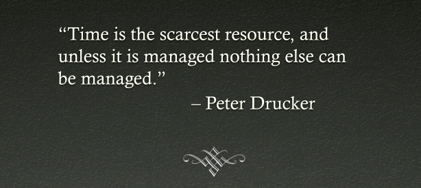Drucker time quote