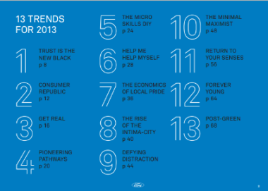 Ford 13 trends for 2013