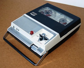 Was there ever anything as cool as the Craig 212 tape recorder? Photo from HistoricGoods.