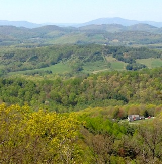 A bucolic Virginia scene from the Blue Ridge Parkway.