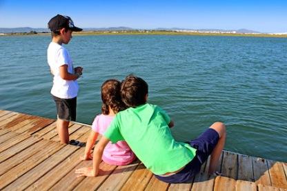 Kids on a pier