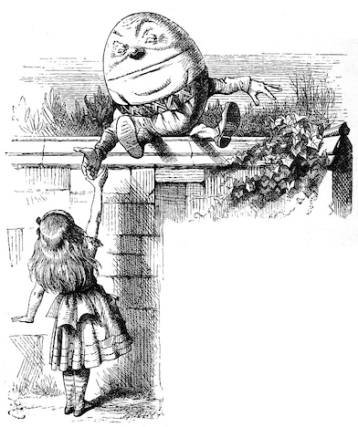 Humpty Dumpty and Alice