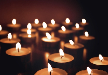 Bokeh - Candles on dark background